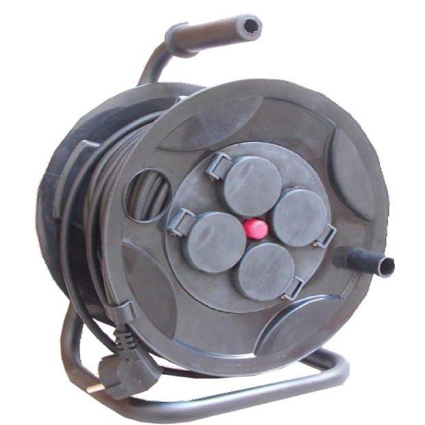 Prelungitor pe tambur 4P 25m cu protectie termica Comtec MF0012-03693
