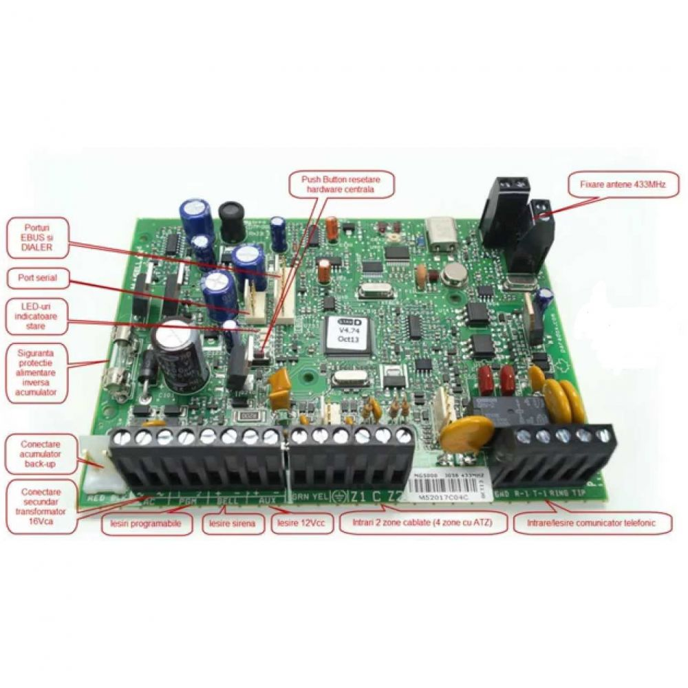 Mg5000pcb Magellan 32 Zone Wireless