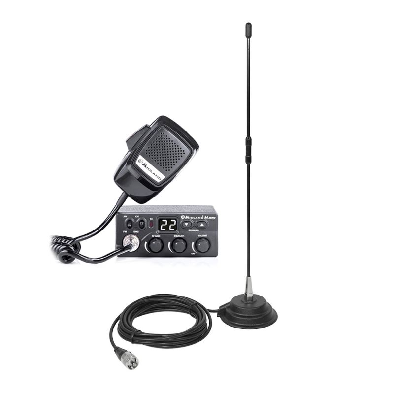 Kit Statie Radio Cb Midland M Zero + Antena Pni Ex