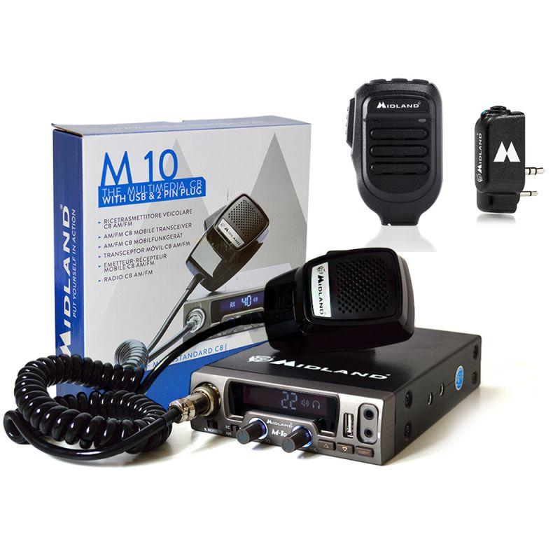 Kit Statie Radio Cb Midland M10 + Midland Wa-dongl