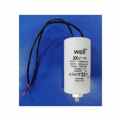 Condensator pornire motor 400V 16uF cu fir Well MOTCAP-16UF-WR-WL