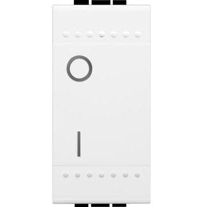 Intrerupator simplu 2P 16A 1 modul Living Light Bticino N4002N