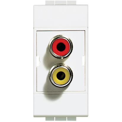 Conector dublu rca 1 modul Living Light Bticino N4269R