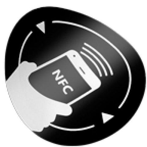 Eticheta NFC autoadeziva antimetal rotunda NFC-3513BK