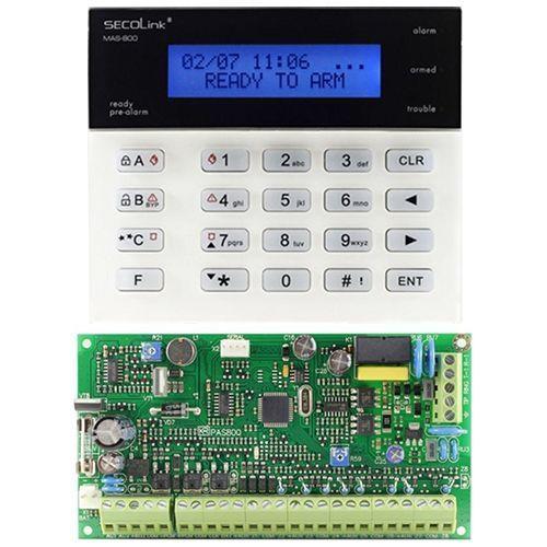 Kit antiefractie Secolink PAS808M+KM20BRO Centrala PAS808M + tastatura KM20B
