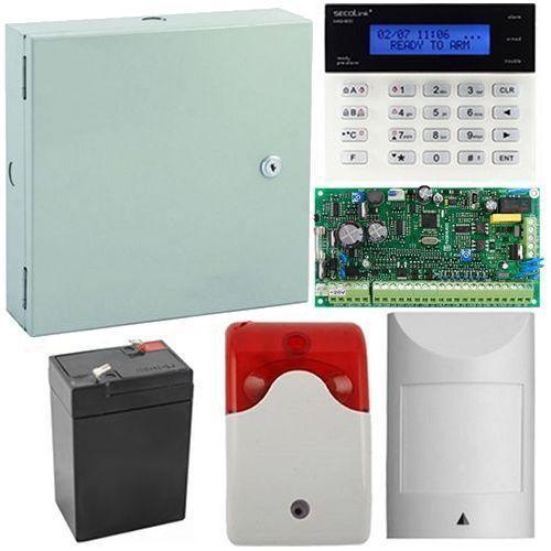 Kit antiefractie Secolink PAS816+K1 Centrala efractie Secolink 16 zone + tastatura + cutie + acumulator + detector miscare + sirena interior