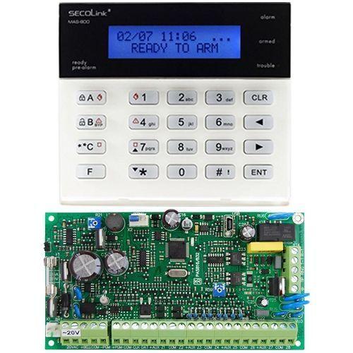 Kit antiefractie Secolink Centrala wired PAS816 + Tastatura LCD KM20B PAS816+KM20B_RO