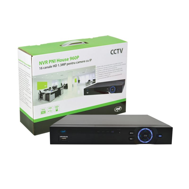Nvr Pni House 960p - 16 Canale Hd 1.3mp