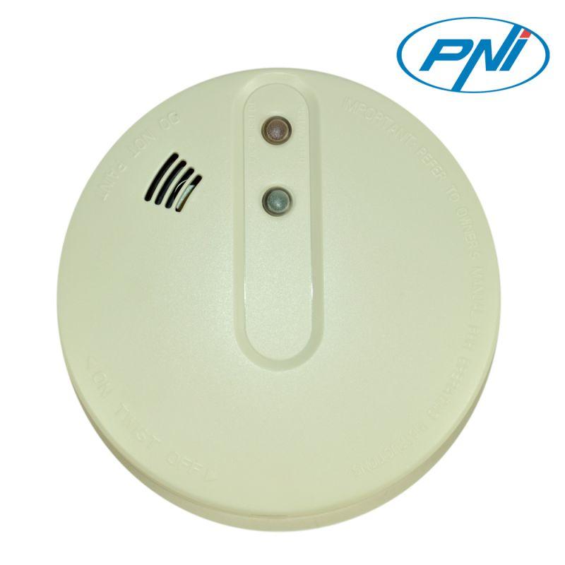 Senzor De Fum Pni A022c Functionare Independenta Sau Conectat La Un Sistem De Alarma Wireless