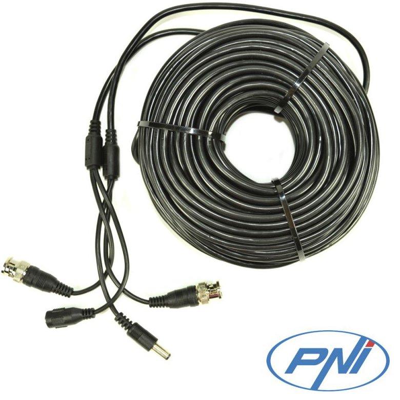 Cablu Video Si Alimentare Pni Cctv 20m Pentru Camera De Supraveghere 20m