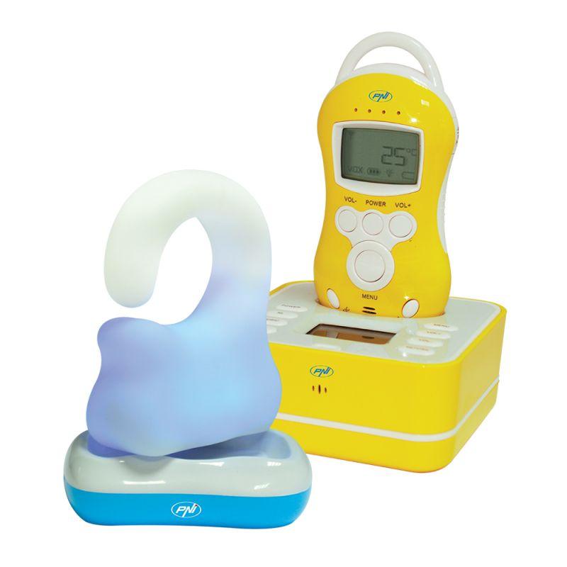 Kit Bebelus - Audio Baby Monitor Pni B6000 Si Lampa De Veghe Pni Elf1000s