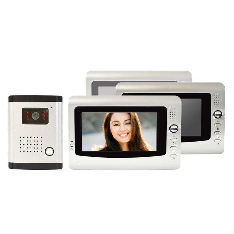 Interfon Video Cu 3 Monitoare Model Pni Df-926-3 C