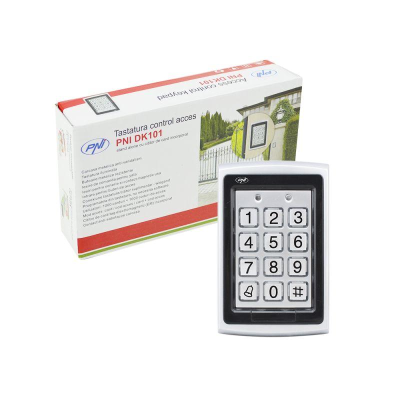 Tastatura Control Acces Pni Dk101 Stand Alone Antivandal Cu Cititor De Card Pni-dk101