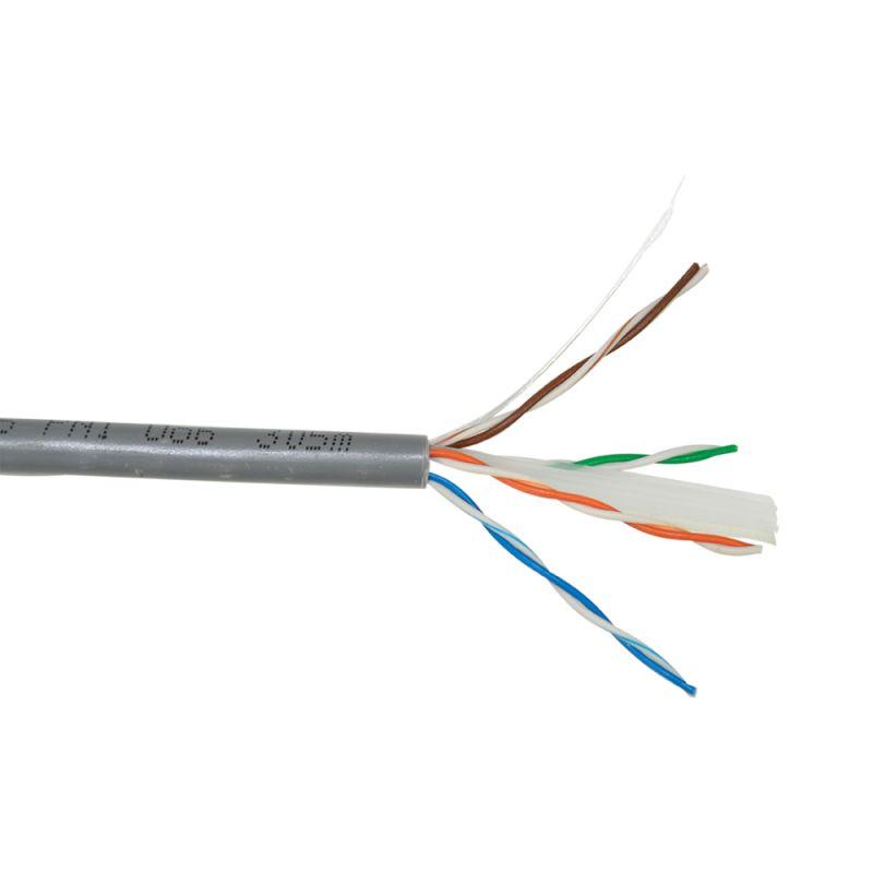 Cablu FTP CAT6 PNI F06 cu 4 perechi pentru internet 1 Gigabit si sisteme de supraveghere Rola 305m PNI-F06