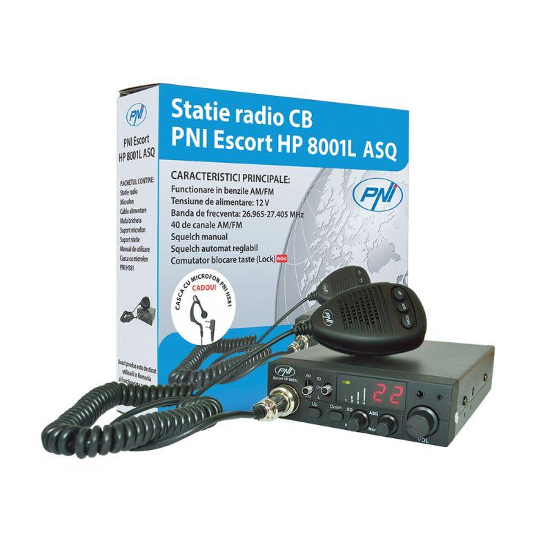 Statie Radio Cb Pni Escort Hp 8001l Asq Include Casti Cu Microfon Hs81