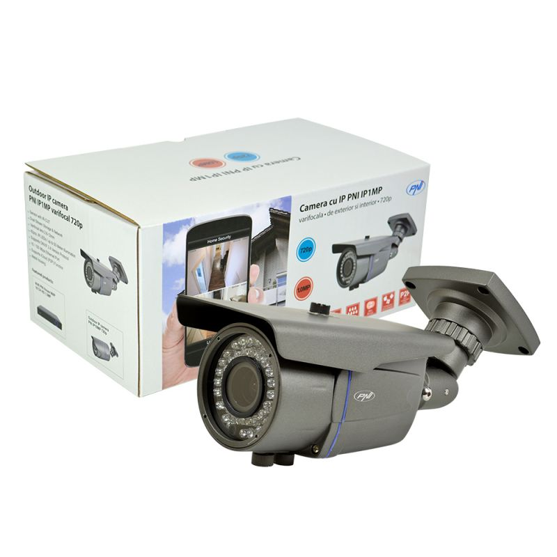 Camera Ip Pni Ip1mp Varifocala De Exterior 720p