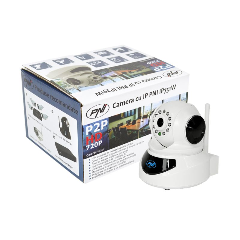 Camera Ip Wireless Pni Ip751w 720p P2p Ptz Slot Card Email Ftp