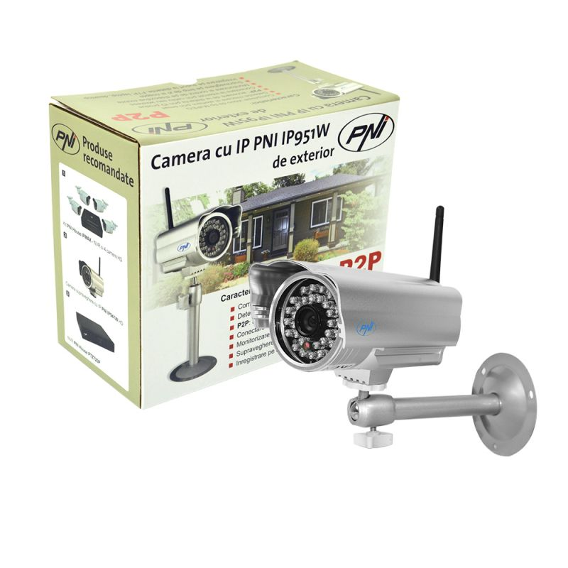 Camera Ip Pni Ip951w De Exterior P2p Wireless