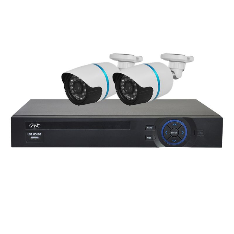 Kit Supraveghere Video Pni House Ipmax2 - Nvr 8ch Onvif Si 2 Camere Ip 720p Pni-ipmax20