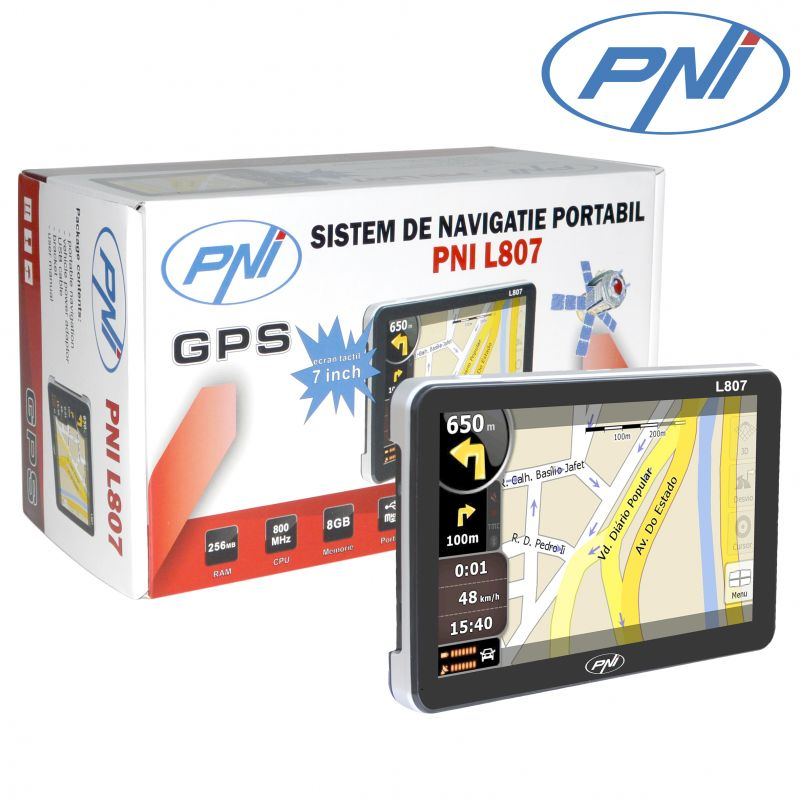 Sistem De Navigatie Portabil Pni L807 7 Inch. 800