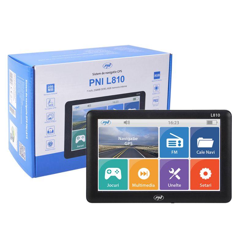 Sistem De Navigatie Gps Pni L810 Ecran 7 Inch. 800