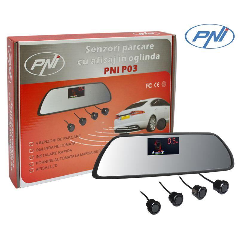Senzori Parcare Cu Afisaj In Oglinda Pni P03 Pni-p03