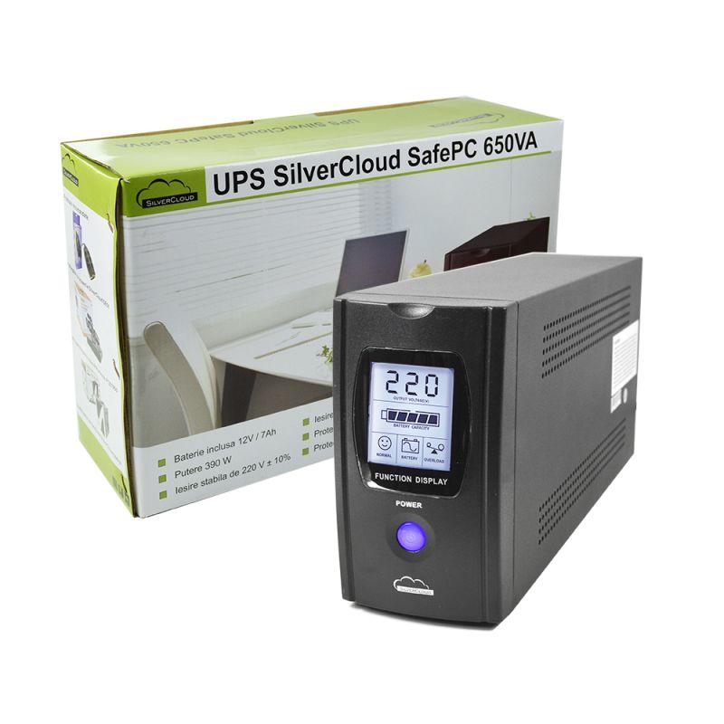 Ups Silvercloud Safepc 650va Cu Ecran Lcd Si Puter