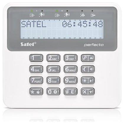 Tastatura alarma Satel PRF-LCD-WRL Afisaj LCD Wireless Compatibila PERFECTA