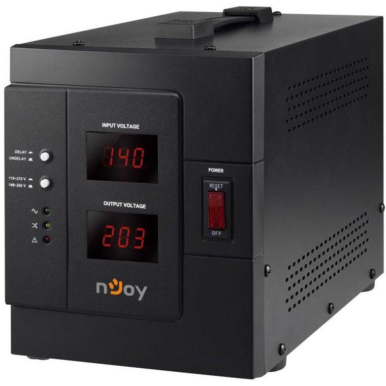 AVR nJoy Akin 3000 3000VA/2400W cu releu LCD Display functie de intarziere la pornire functie de selectie a tensiunii PWAV-30002AK-AZ01B