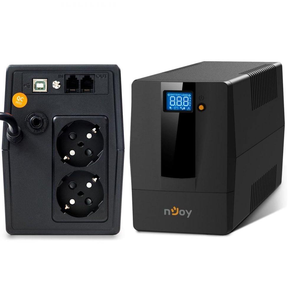 UPS nJoy Horus Plus 600 600VA/360W LCD tactil 2 Prize Schuko cu Protectie RJ11