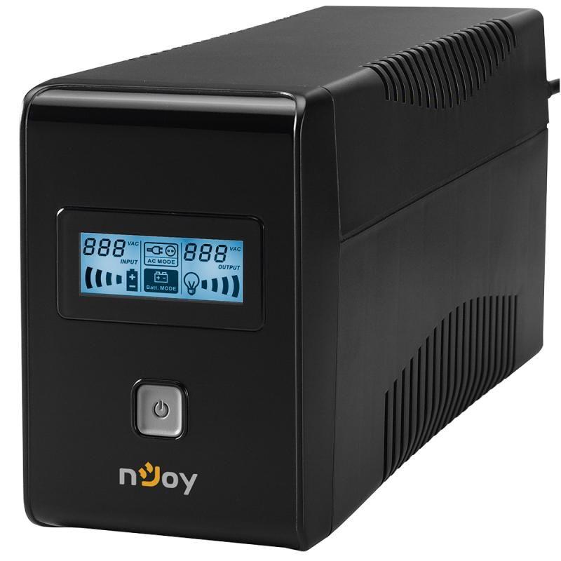 UPS nJoy Isis 650L 650VA/360W LCD Display 2 prize Schuko cu protectie PWUP-LI065IS-AZ01B
