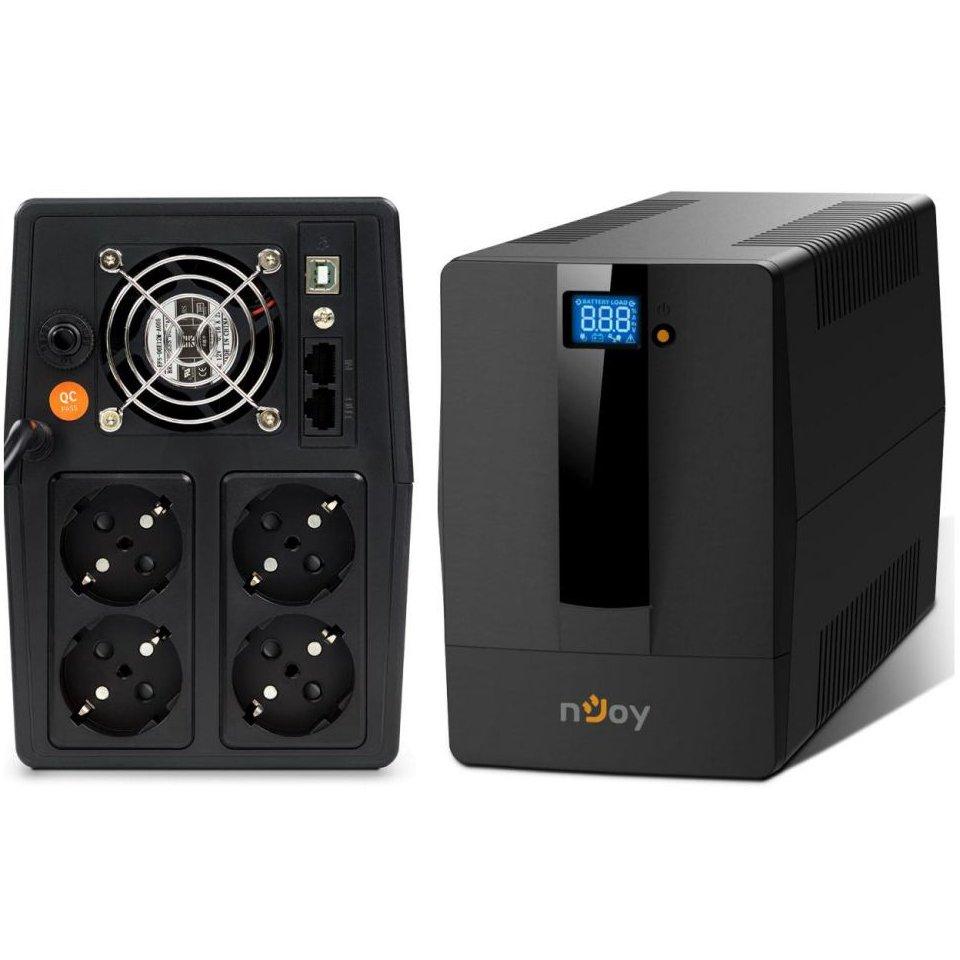 UPS nJoy Horus Plus 2000 2000VA/1200W Afisaj LCD cu ecran tactil 4 Prize Schuko cu Protectie RJ11