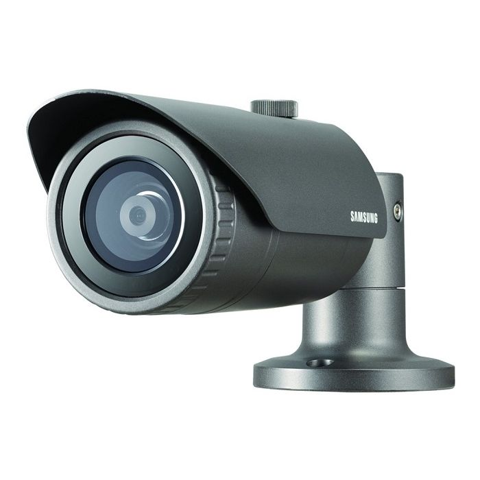 Camera IP all-in-one de exterior Samsung QNO-7010R 4MP IR 20m WDR 120dB IP66 2.8mm