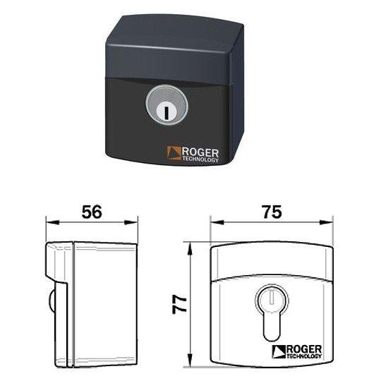 Selector cu cheie Roger R85/60ES cu sistem antifurt IP54