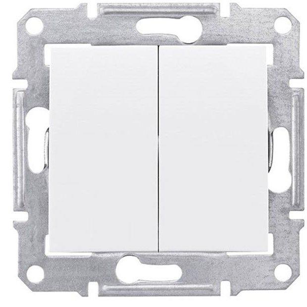 Intrerupator dublu 10AX - 250V alb Schneider Sedna SDN0300121