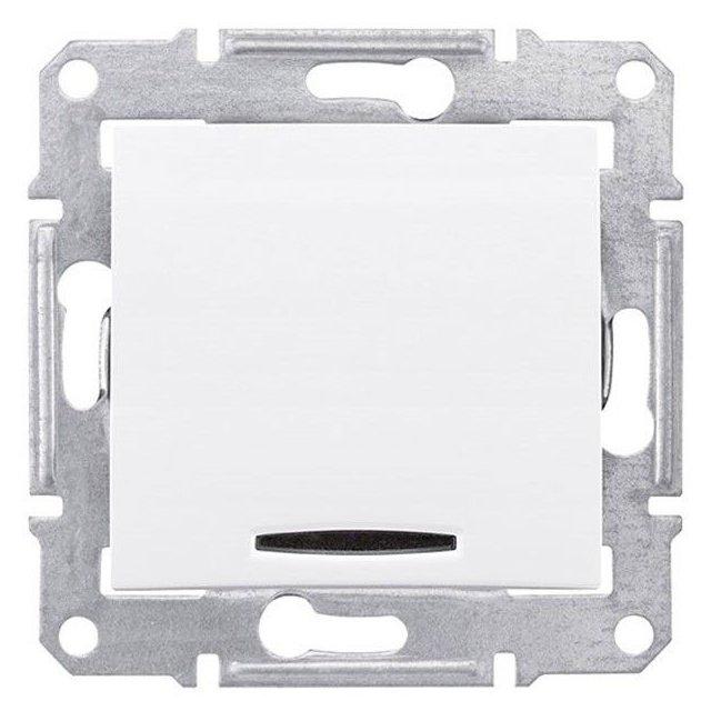 Intrerupator cap scara simplu cu led albastru Schneider Sedna SDN1500121