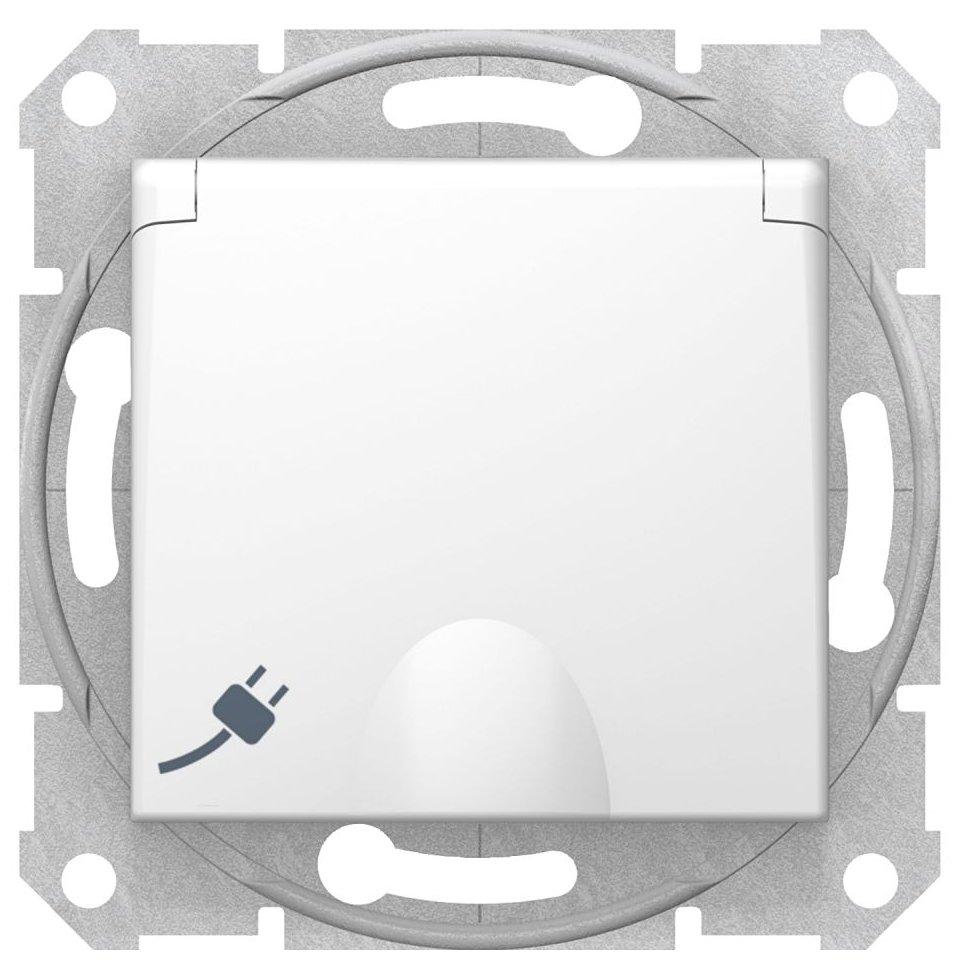 Priza simpla ST cu capac Schneider Sedna SDN3100121