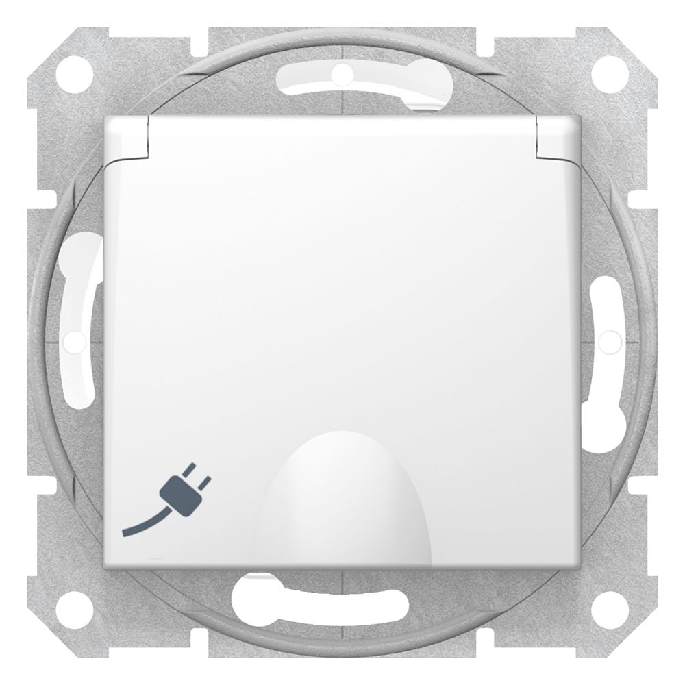 Priza simpla cu capac IP44 Schneider Sedna SDN3100321