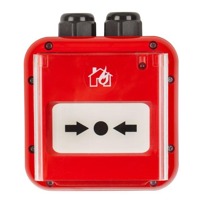 Buton de incendiu Teletek SensoIRIS MCP150 IP67 adresabil rezistent la apa led stare