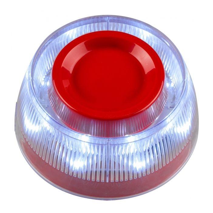 Sirena adresabila Teletek SensoIRIS WSST IS cu flash de tip VAD LED alb protocol TTE include izolator de bucla