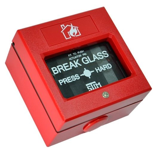 Buton de incendiu rosu fara capac geam SECPRAL SM 108