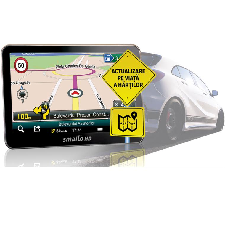 Navigator Gps 5 Smailo Hd 5.0 Feu Lmu Harta Full Europa + Actualizari Gratuite