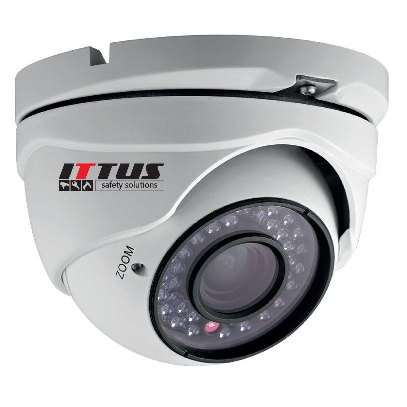 Camera Analogica Dome Ittus Sp-1131.cam720d-vf 720 Tvl. Varifocala 2.8-12mm. Ir 40m. Ip66. Hdr
