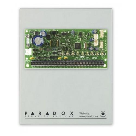 Centrala 4 zone extensibila cu cutie metalica si transformator Paradox SP 4000+cutie