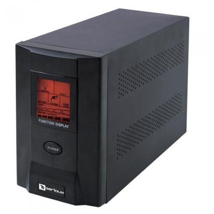 UPS Serioux ProtectIT 1200S ProtectIT 1200S 1200VA >8min back-up (half load) 2 baterii ecran LCD negru SRXU-1200S