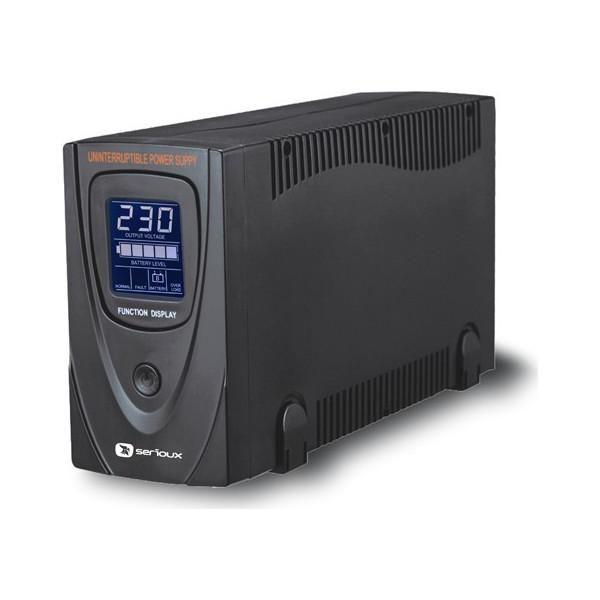 UPS Serioux ProtectIT 650LS 650VA >12min back-up (half load) ecran LCD negru SRXU-650LS