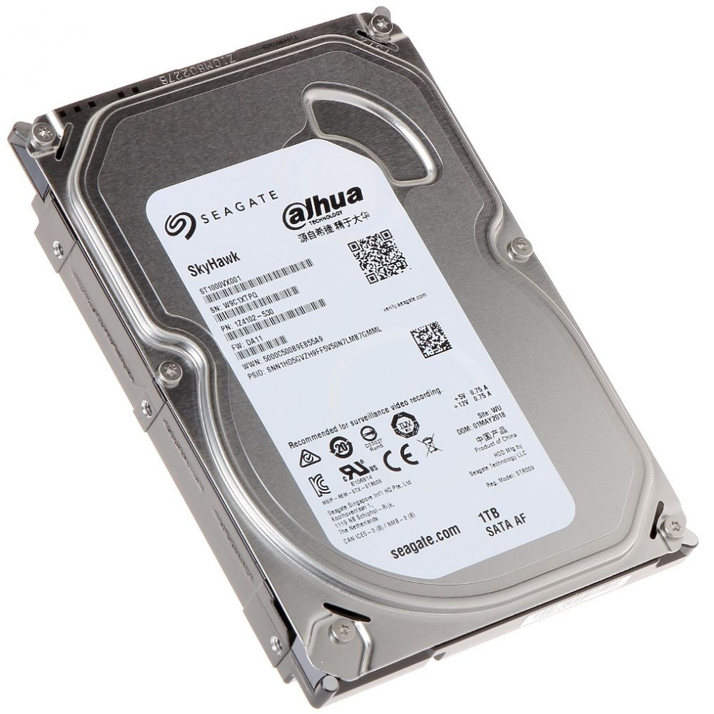 Imagine Hdd 1 Tb Seagate Skyhawk Video St1000vx001 Dahua Logo