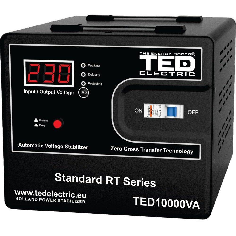 Stabilizator de retea maxim 10000VA / 6000W Ted 10000
