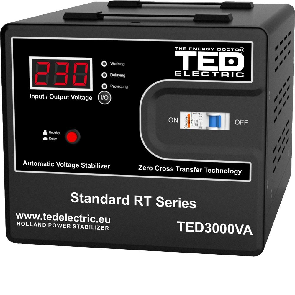 Stabilizator de retea maxim 3000VA / 1800W Ted 3000