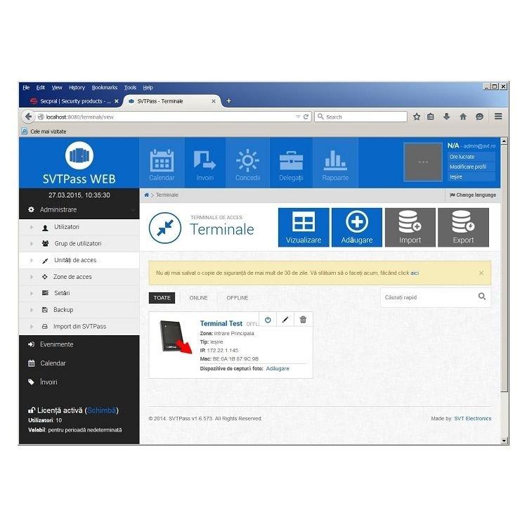 Licenta software pentru 1000 de utilizatori SVTECH SVT PASS 2_1000
